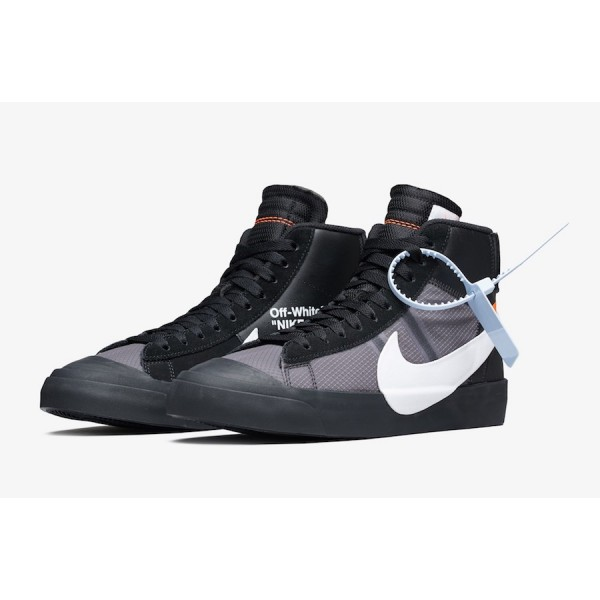 "Off-White x Nike Blazer Mid ""Grim Reaper"" Noir Chaussures AA3832-001"