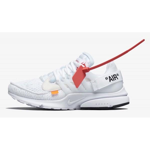 Off-White x Nike Presto Blanche Noir Chaussures AA...