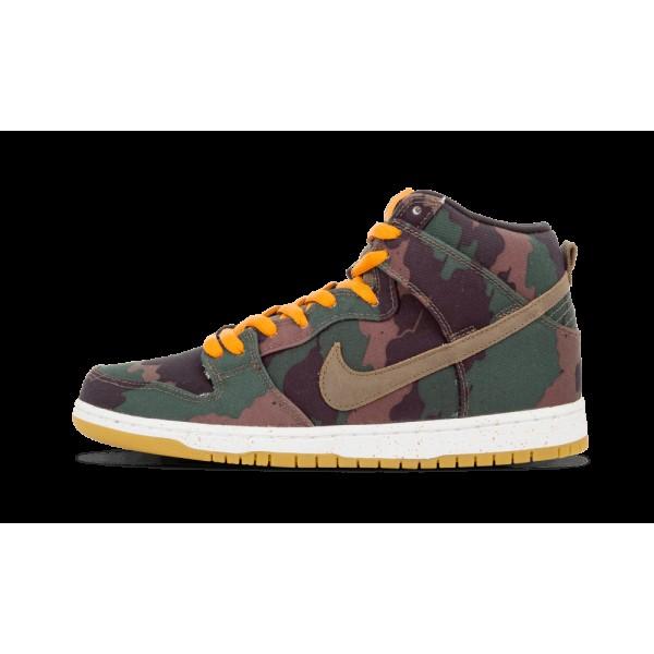 Nike Dunk High Premium SB Noir/Kaki olive/Sunset 6...