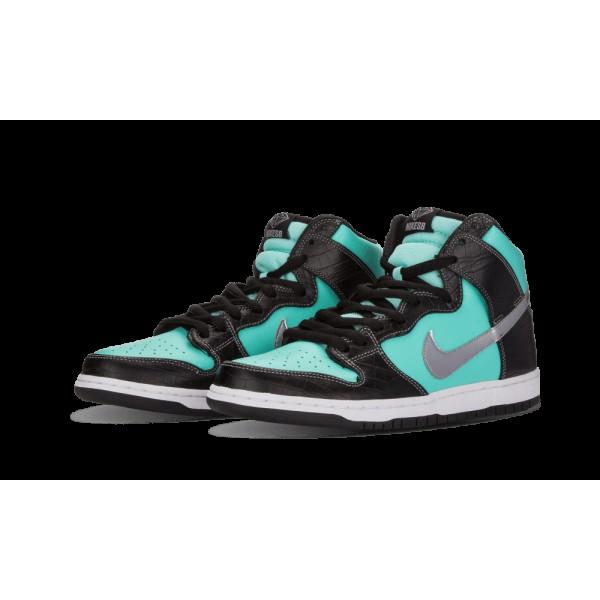 Nike Dunk High PRM SB Aqua/Chrome/Noir 653599-400