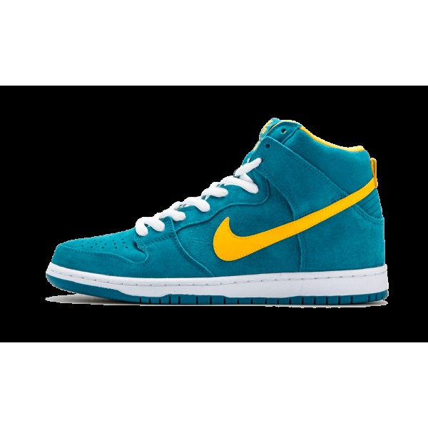 Nike DUNK HIGH PRO SB Tropical Teal Université Or...