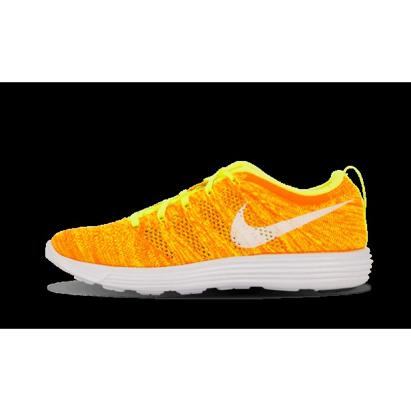 Nike Femme Flyknit Chaussure Volt/Blanche/Total Or...