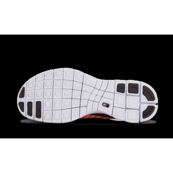 Nike Free Flyknit NSW Rose Flash/Blanche/Volt/Bleu Glow Lightweight 599459-600