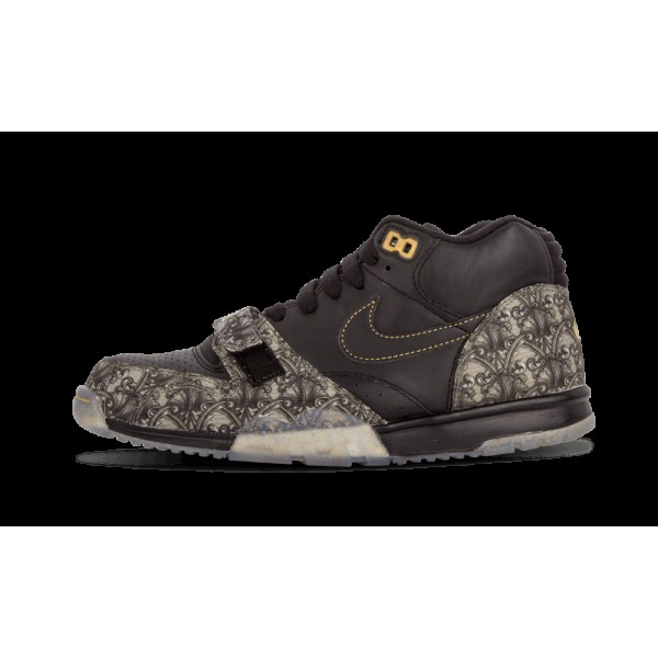 Nike Air Chaussure 1 MID PRM QS 607081-002 Noir Or...