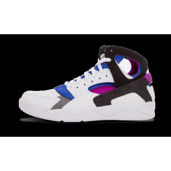 Nike Air Flight Huarache PRM QS Blanche/Noir/Lyon Bleu/Bold Berry 686203-100