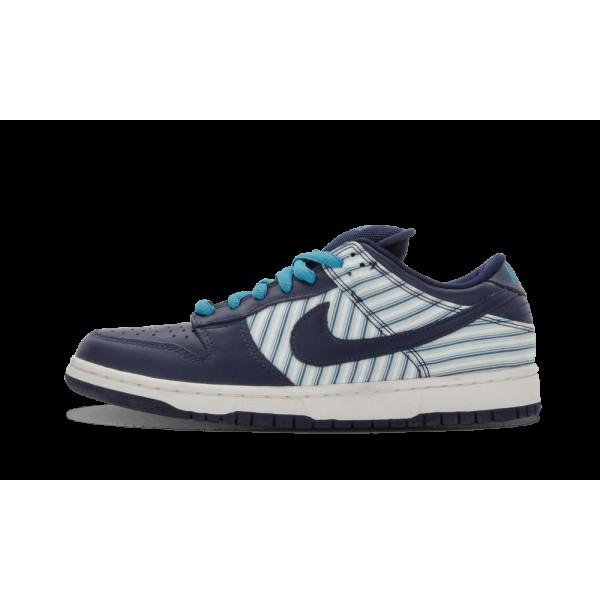 Nike Dunk Low Pro SB Blanche/Midnight Marine/Bleu ...