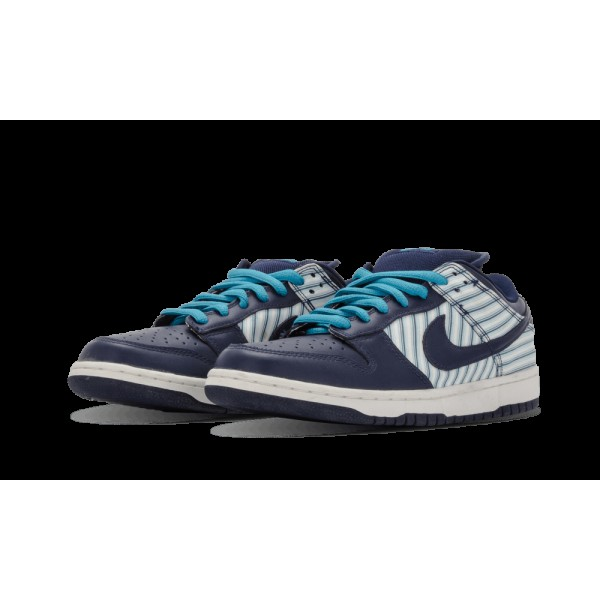 Nike Dunk Low Pro SB Blanche/Midnight Marine/Bleu Reef 304292-143