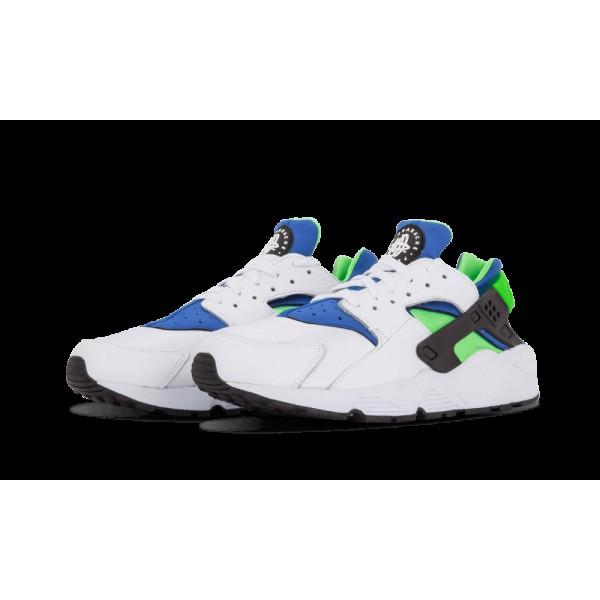 Nike Air Huarache Blanche/SCrème Vert/Royal Bleu/Noir 318429-100