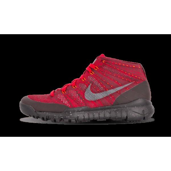 Nike Flyknit Chaussure Chukka FSB Gym Rouge Deep B...