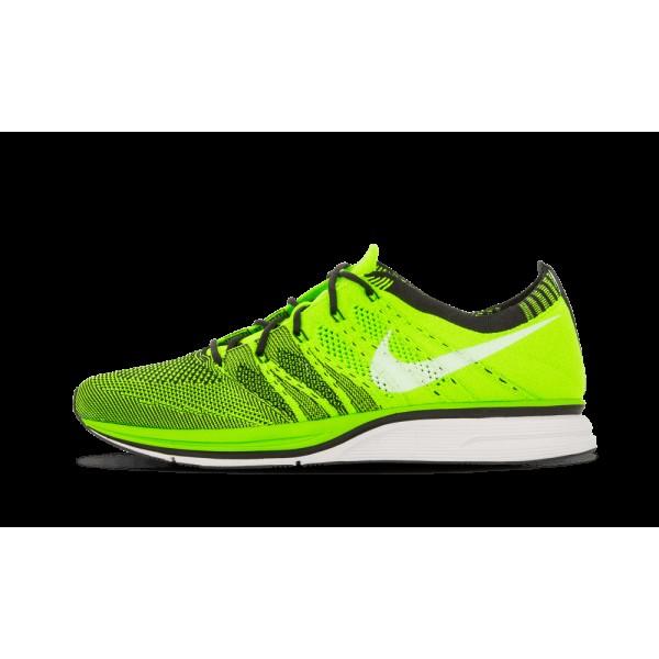 Nike Flyknit Chaussure+ Electric Vert/Noir/Blanche...