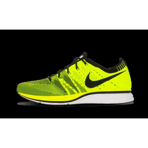 Nike Flyknit Chaussure+ Volt/Noir 532984-700