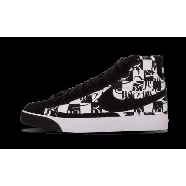 Nike Blazer High Premium TZ Blanche/Noir 332286-10...