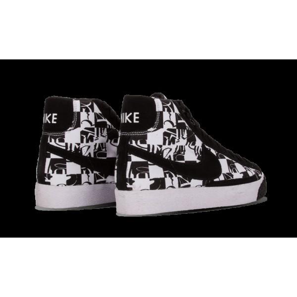 Nike Blazer High Premium TZ Blanche/Noir 332286-101