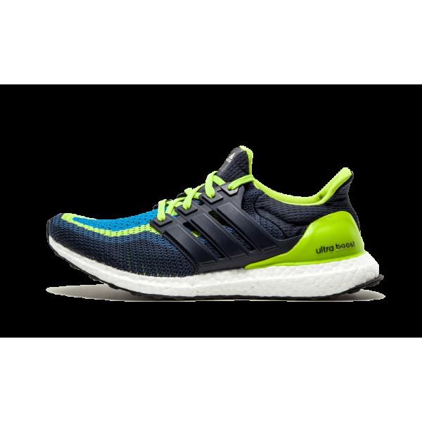 Adidas Ultra Boost Homme Semi Solar Slime/Night Ma...