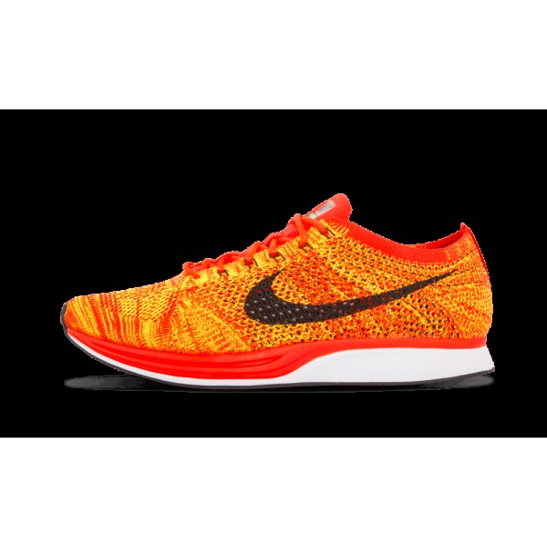 Nike Flyknit Racer 526628-602 Running Bright Crims...