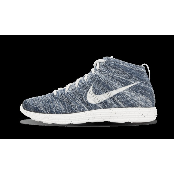 Nike Lunar Flyknit Chukka 554969-400 Bleu/Platinum...