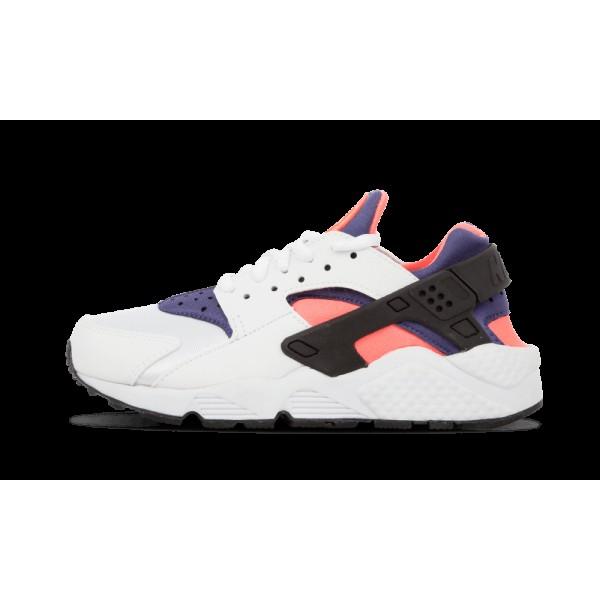 Nike Air Huarache Run 634835-103 Blanche/Bleu Lege...