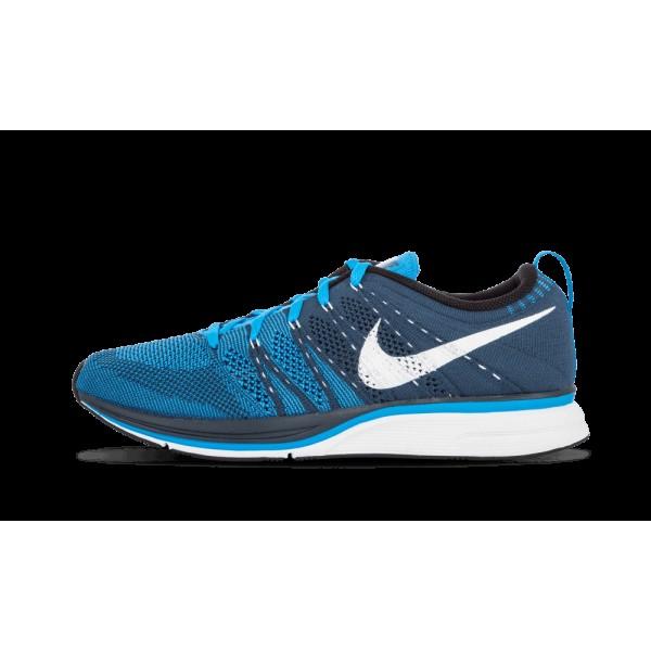 Nike Flyknit Chaussure+ Squadron Bleu/Blanche/Bleu...