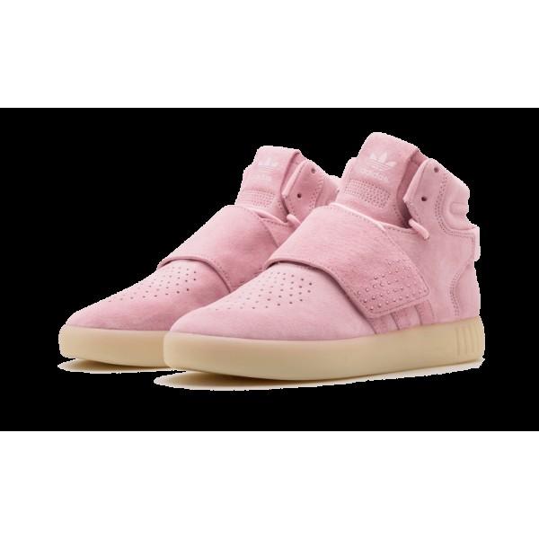 Adidas Tubular Strap Femme Rose/Blanche B39364