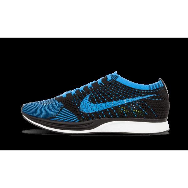 Nike Flyknit Racer Noir/Photo Bleu/Blanche 526628-...