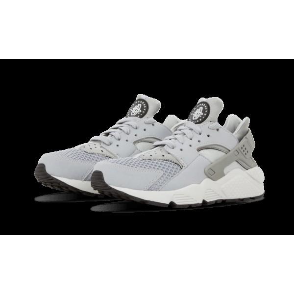 318429-014 Nike Air Huarache Gris Platinum Noir Blanche Homme