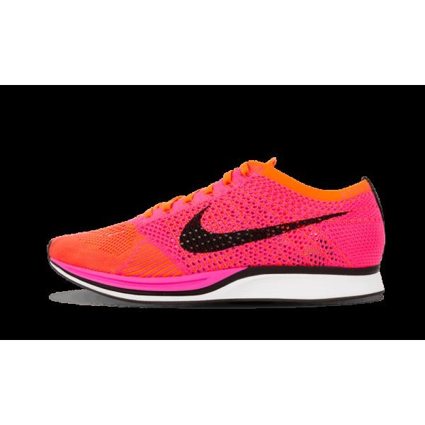 Nike Flyknit Racer Rose Noir Orange Chaussures de ...