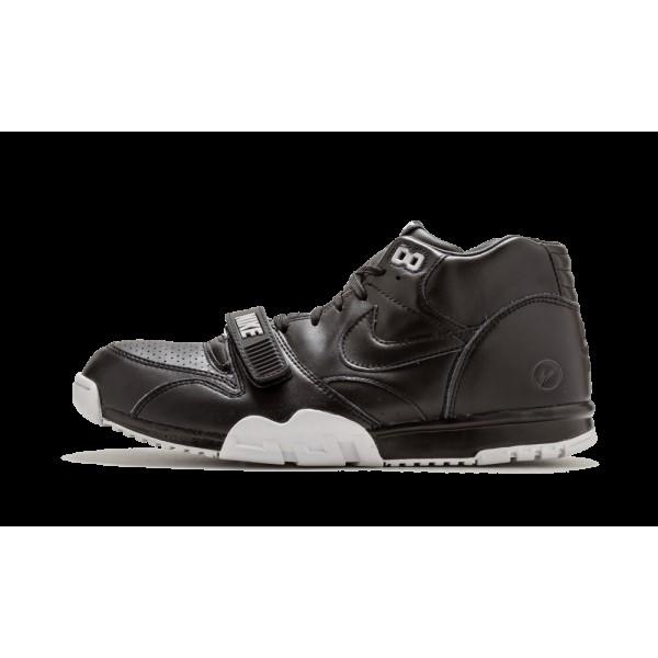 Nike Air Chaussure 1 Mid Sp/Fragment Noir Blanche ...