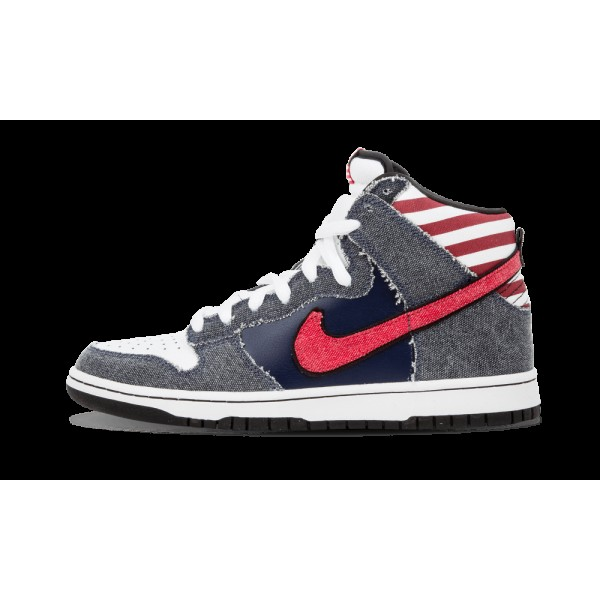 Nike Dunk High Premium SB Blanche/Sport Rouge/Midn...