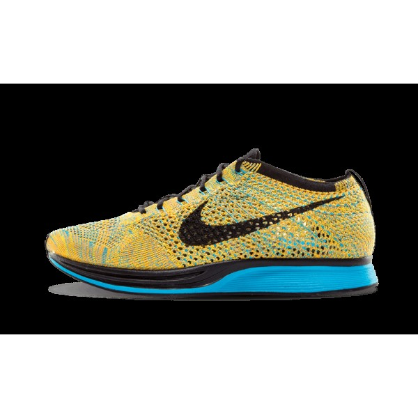Nike Flyknit Racer Bright Citrus/Bleu Lagoon/Laser...
