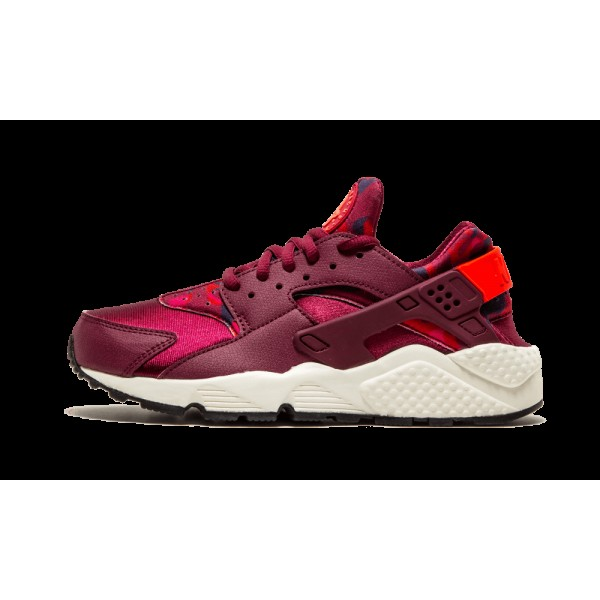 Nike Air Huarache Run Print Deep Garnet/Bright Cri...