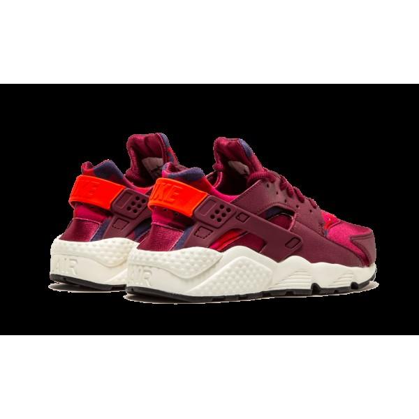 Nike Air Huarache Run Print Deep Garnet/Bright Crimson 725076-602 Chaussures de Femme