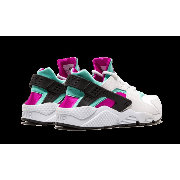 Nike Air Huarache Run Blanche/Fuchsia Flash/Artisan Teal 634835-104