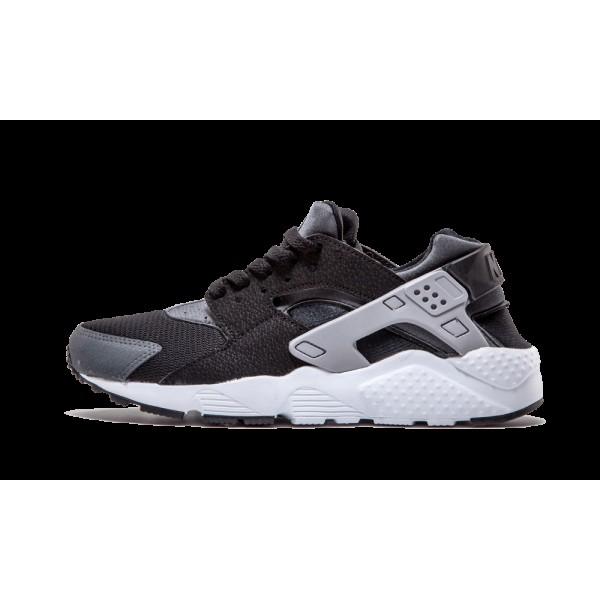 Nike Huarache Run GS Noir Wolf Gris Blanche 654275...