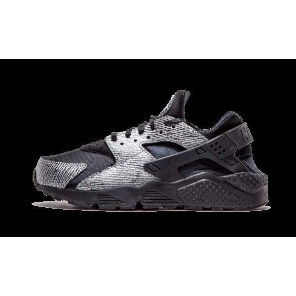 Nike Femme Huarache Run PRM Noir/Argent Chaussures...