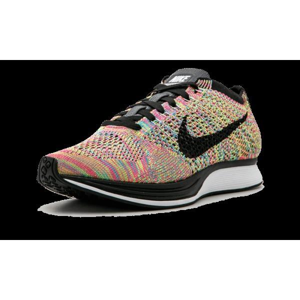 Nike Flyknit Racer 526628-004 Gris/Noir/Rose Unisexe