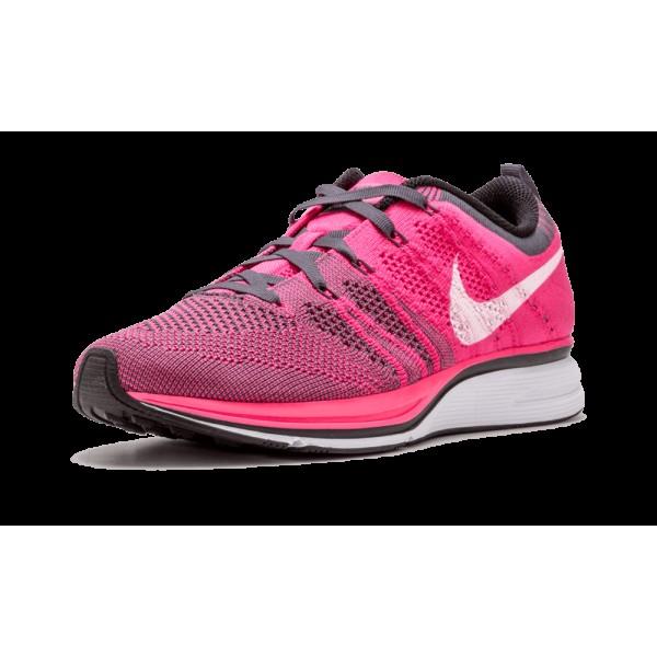 "Nike Flyknit Chaussure ""Rose Flash"" Rose Flash/White-Gris foncé 532984-611"