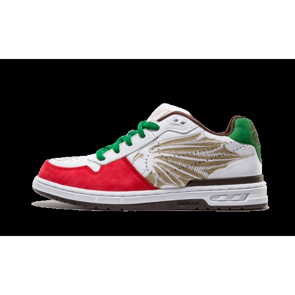 312953-111 Nike Paul Rodroguez Zoom Air Elite Prod 1 Cinco De Mayo Blanche Rouge
