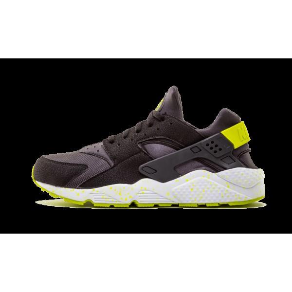 Nike Air Huarache Chaussures de Homme Noir Anthracite Gris Venom Vert 318429-030
