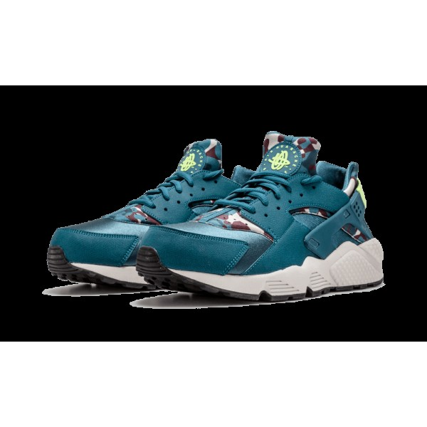 Nike Air Huarache Run Print Teal Ghost Vert Chaussures de Femme 725076-301