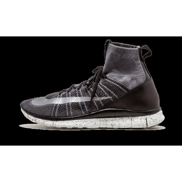 Nike Flyknit Mercurial Homme Gris foncé/Argent/No...