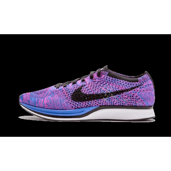 Nike Flyknit Racer Game Royal Noir Rose Flash 5266...