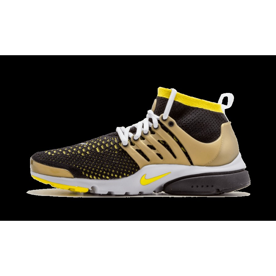 Conception innovante a7f84 4d4ca Nike Air Presto Flyknit Ultra Noir Jaune Stark Or Chaussures ...