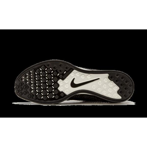 Nike Flyknit Racer Noir/Gris foncé/Volt 526628-005