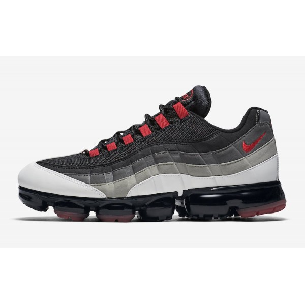 Nike Air VaporMax 95 Blanche Hot Rouge Chaussures ...