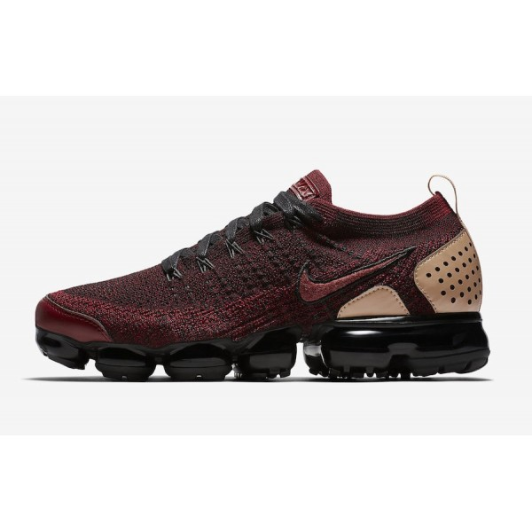 Nike Air VaporMax Flyknit 2 NRG Team Rouge Tan Cha...