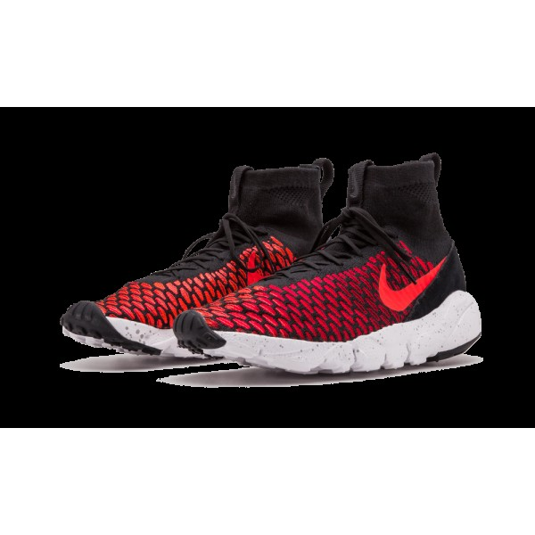 Nike Air Footscape Magista Flyknit Noir/Bright Crimson/Gym Rouge/Cool Gris 816560-002