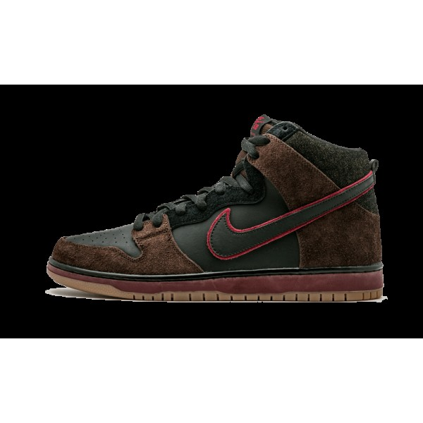Nike Dunk High Premium SB Noir/Team Rouge 313171-0...