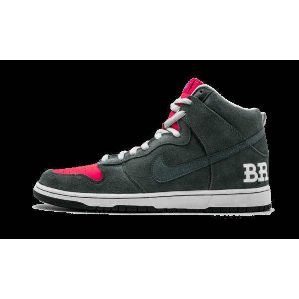 Nike Dunk High Premium SB Pavement Gris/Vivid Rose...