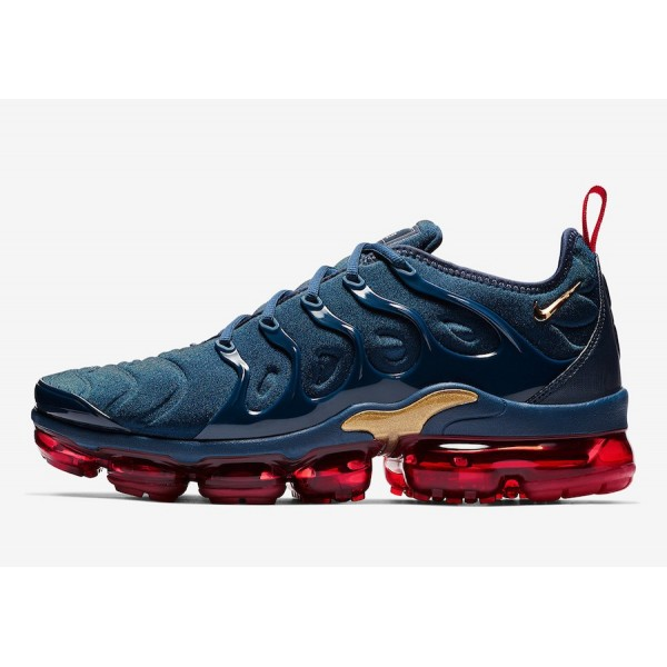Nike Air VaporMax Plus Midnight Navy Rouge Chaussu...