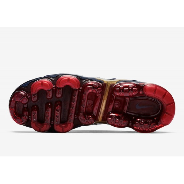 Nike Air VaporMax Plus Midnight Navy Rouge Chaussures Homme 924453-405